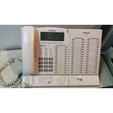 Системный телефон Panasonic KX-T7636 с дополнительной консолью номеров PANASONIC KX-T7640X-B