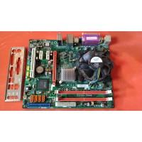 Материнская плата Elitegroup G41T-M2 с кулером и процессором Celeron