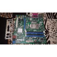 Материнская плата Intel DQ67OW с процессором и задней планкой