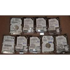 9 штук HDD 40Gb IDE 2,5 неисправные